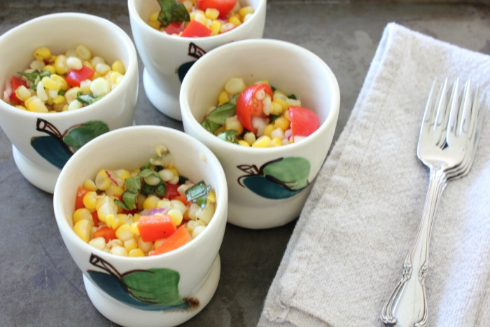 fresh corn salad recipe from At Home on the Bay