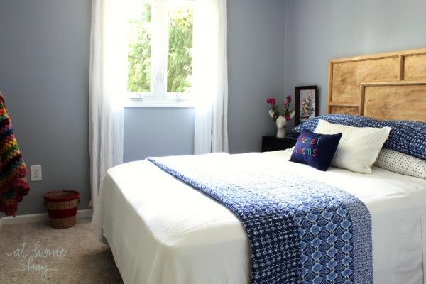 Indigo Ikat Blue Guest Bedroom
