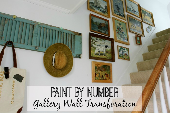paint by number gallery wall-transformation