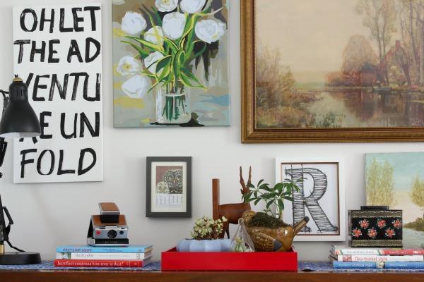 vintage eclectic livingroom