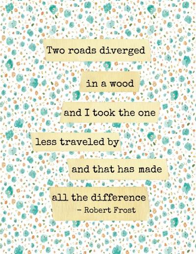 Robert Frost-Quote