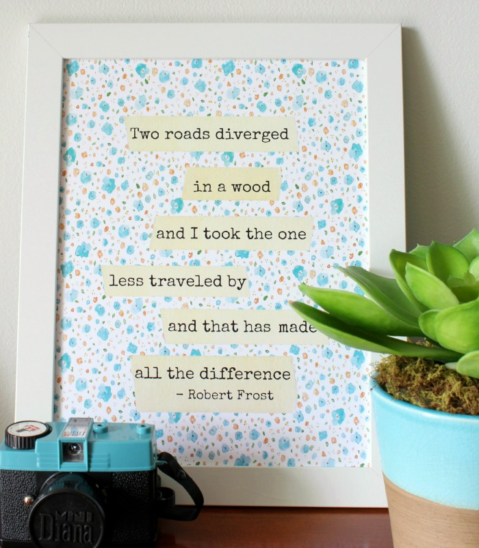 Robert Frost - Two Roads - Free Printable - At Home on the Bay