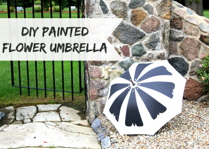 DIY Painted Flower Umbrella inspired by the Studio DIY Fruit Slice Umbrellas #troopstudiodiy