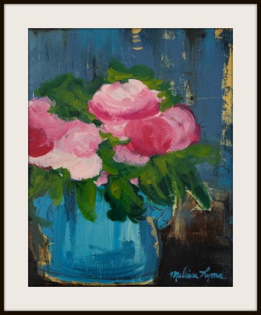 pink peonies print: Melissa Lyons Art