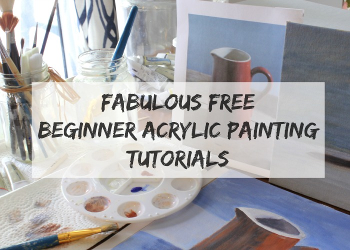 Fabulous free beginner acrylic painting tutorials for Painting flowers in acrylic step by step