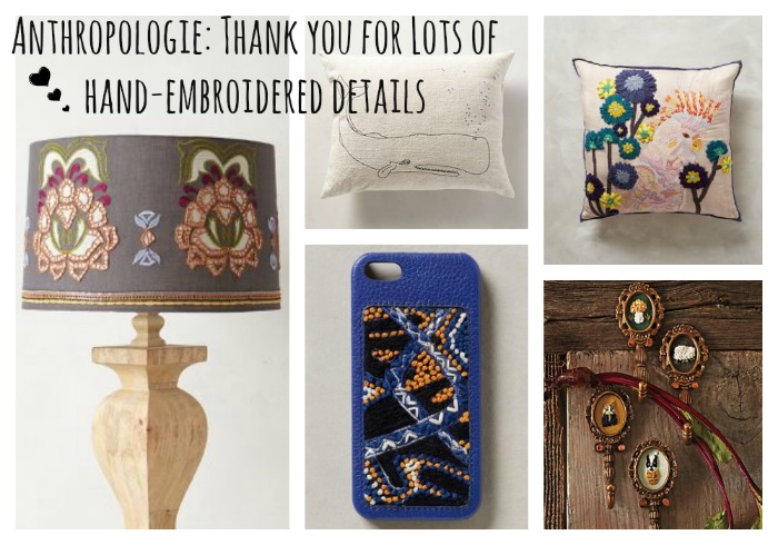 Style Trend - Hand Embroidered Details Spotted at Anthropologie