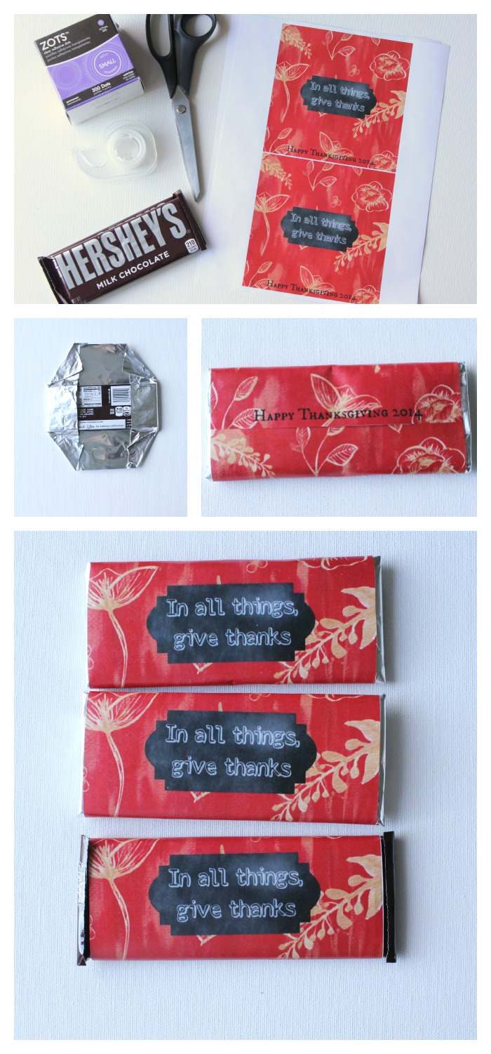 In All Things Give Thanks Wrapper Printable - Free downlad from At Home on the Bay