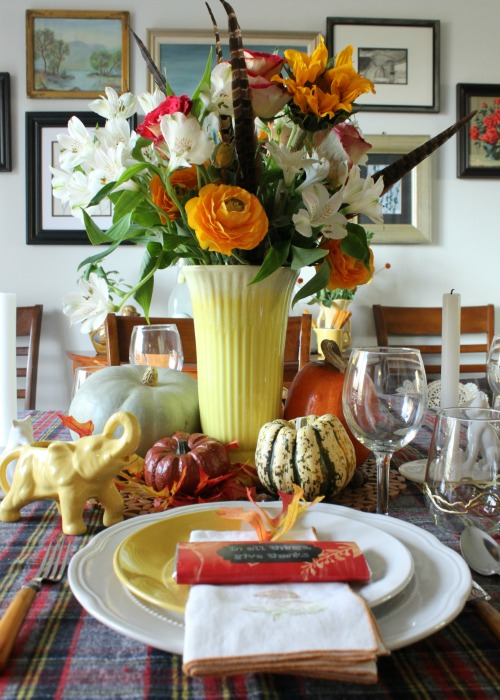 2014 Thanksgiving tablescape from At Home on the Bay