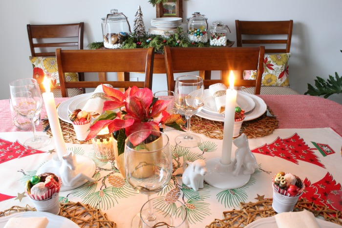 Joy at the Christmas Table - tablescape