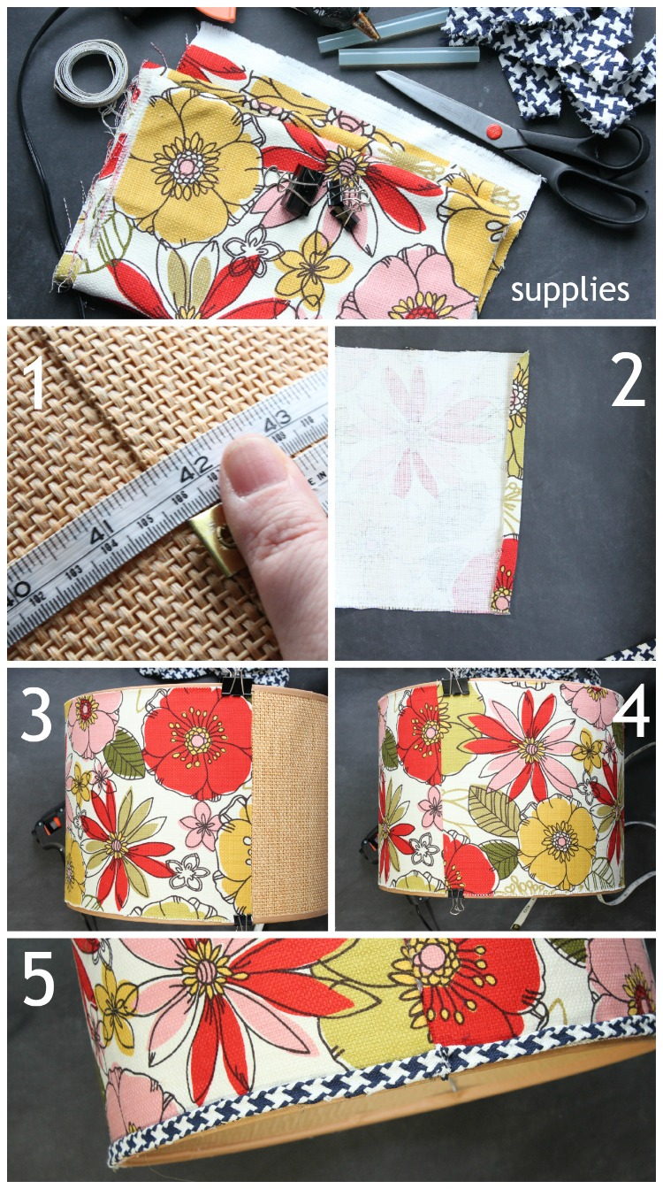 Lampshade update - easy tutorial from At Home on the Bay