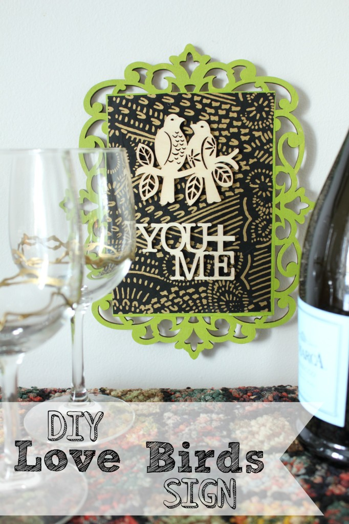 Love Birds - DIY Love Birds sign tutorial from AT Home on the Bay #madewithmichaels #plaidcrafts