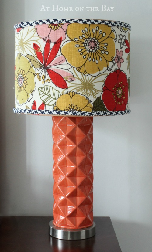 lampshade update with bias trim tutorial from athomeonthebay.com