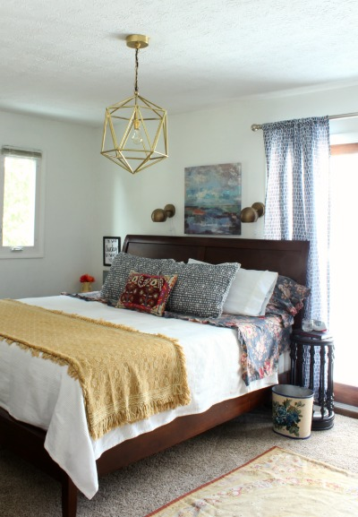 Colorful eclectic master bedroom reveal for Eclectic master bedroom ideas