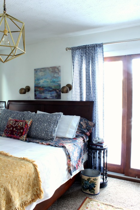 colorful master bedroom reveal
