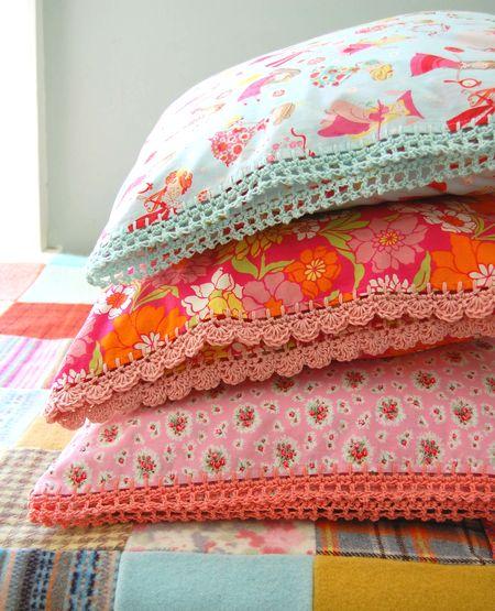 Crochet Edge Pillowcases from RoseHip's Etsy Shop
