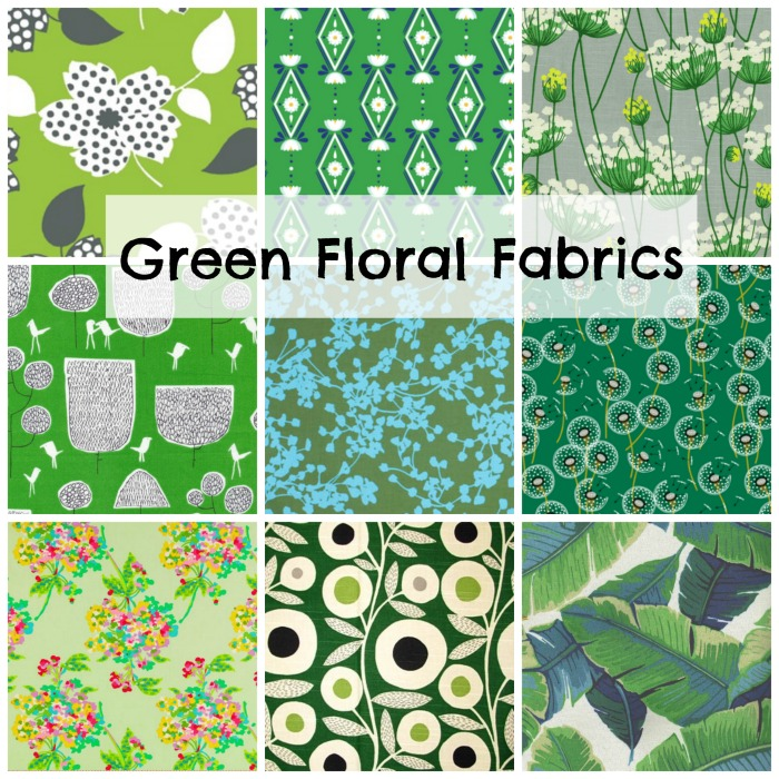 Favorite Green Fabrics - lots a beautiful green fabrics and resources