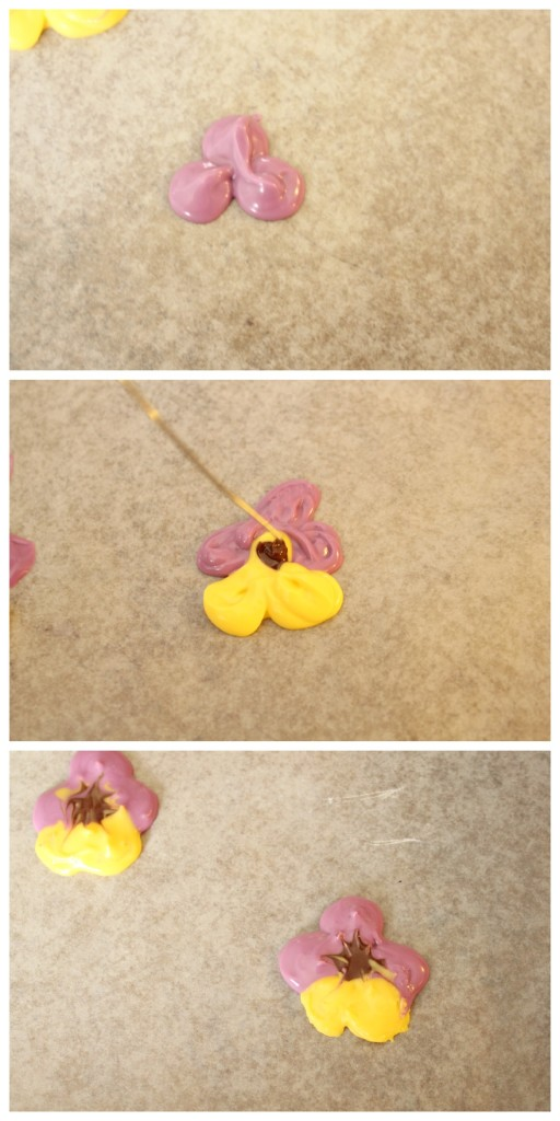 Edible Pansy Cupcake Toppers made with candy melts