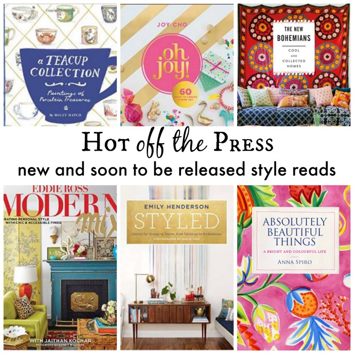 Hot off the press - style books you'll want for your coffee table