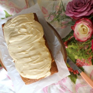 Banana Apple Spice Cake with Caramel Frosting